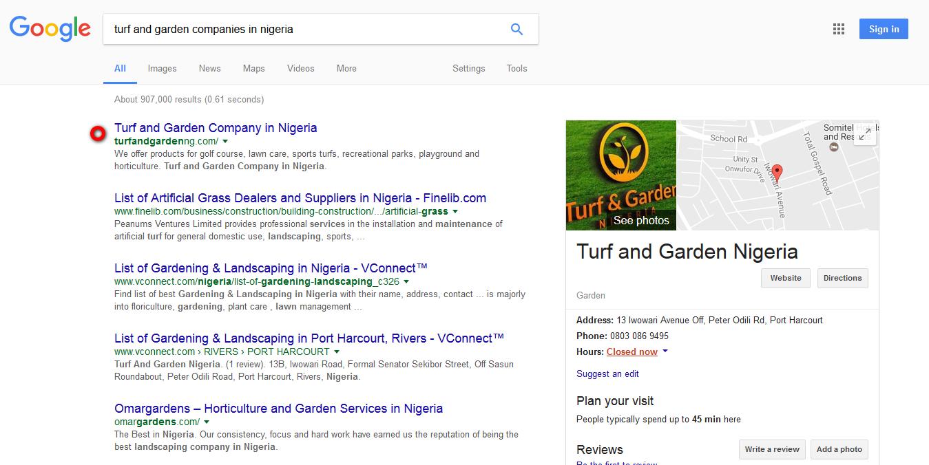 Turf and Garden Nigeria
